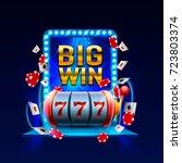 big win slots 777 banner casino....   Shutterstock .eps vector #723803374