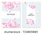 pink hydrangea  petals dropping ... | Shutterstock .eps vector #723805885