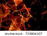 abstract technology and future... | Shutterstock . vector #723806107