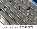 mineral core  after drilling as ... | Shutterstock . vector #723812779