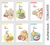 spa wellness beauty brochure... | Shutterstock .eps vector #723814555