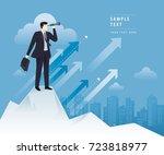 businessman looking through... | Shutterstock .eps vector #723818977