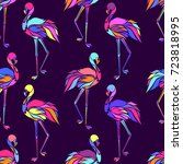 vector seamless pattern with...   Shutterstock .eps vector #723818995