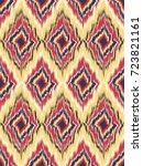 seamless pattern tribal art... | Shutterstock .eps vector #723821161