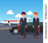rich and wealthy business man... | Shutterstock .eps vector #723821167