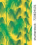 tropical green leaf. colorful... | Shutterstock .eps vector #723824131