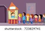 illustration of stickman kids... | Shutterstock .eps vector #723829741