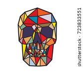 polygonal skull on white... | Shutterstock .eps vector #723833551