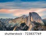 Yosemite Half Dome At Sunset ...