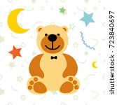 vector illustration toy teddy... | Shutterstock .eps vector #723840697