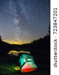 autumn night camping in maurice ... | Shutterstock . vector #723847201