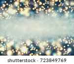 abstract christmas lights on...   Shutterstock . vector #723849769
