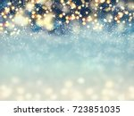 abstract christmas lights on... | Shutterstock . vector #723851035