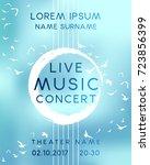 classical music concert poster... | Shutterstock .eps vector #723856399