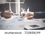 business team support and... | Shutterstock . vector #723858199