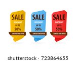 special offer sale banner for... | Shutterstock .eps vector #723864655