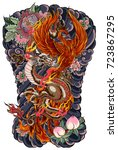 japanese tattoo design full... | Shutterstock .eps vector #723867295