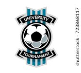 university tournament  soccer... | Shutterstock .eps vector #723868117