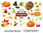 thanksgiving icons autumn... | Shutterstock .eps vector #723870907