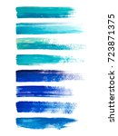 abstract watercolor brush... | Shutterstock .eps vector #723871375
