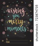 merry christmas and happy new... | Shutterstock .eps vector #723874735