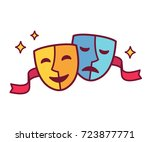 traditional theater symbol ... | Shutterstock .eps vector #723877771