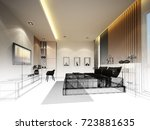 abstract sketch design of... | Shutterstock . vector #723881635
