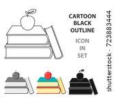 books icon cartoon. single...   Shutterstock .eps vector #723883444