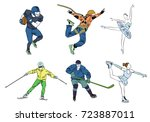 vector illustration of set of... | Shutterstock .eps vector #723887011