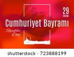 turkey holiday cumhuriyet ...   Shutterstock .eps vector #723888199