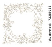 sketch of floral frame for your ... | Shutterstock .eps vector #72389158