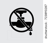 save water sign vector... | Shutterstock .eps vector #723893287