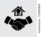 house and hand vector icon | Shutterstock .eps vector #723893869