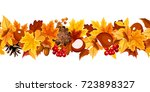 vector horizontal seamless... | Shutterstock .eps vector #723898327