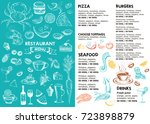 restaurant cafe menu  | Shutterstock . vector #723898879