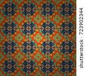 vector seamless abstract... | Shutterstock .eps vector #723902344