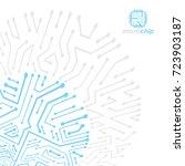 futuristic cybernetic scheme ...   Shutterstock .eps vector #723903187