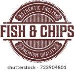 fish   chips vintage menu... | Shutterstock .eps vector #723904801