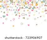 valentine's day scatter of...   Shutterstock .eps vector #723906907