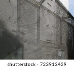 sliver aluminium metal plate... | Shutterstock . vector #723913429