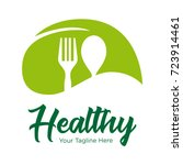 vegetarian food icon logo | Shutterstock .eps vector #723914461