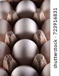 white eggs in carton box .... | Shutterstock . vector #723916831