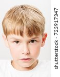 Caucasian European School Boy...