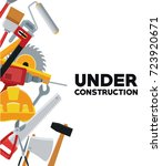 under construction design | Shutterstock .eps vector #723920671