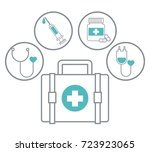 medical healthcare service | Shutterstock .eps vector #723923065