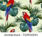 beautiful seamless vector... | Shutterstock .eps vector #723924241