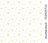 seamless pattern with stars... | Shutterstock .eps vector #723925711