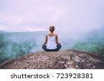 asian women relax in the... | Shutterstock . vector #723928381
