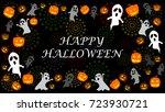 halloween background. many...   Shutterstock .eps vector #723930721