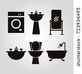 bath and toilet items isolated... | Shutterstock .eps vector #723934495